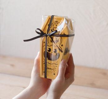 p18 植物からお菓子まで使い方色々 ハロウィン棺桶ボックス